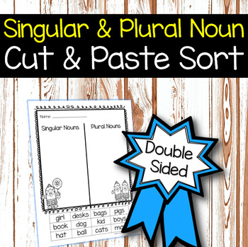 Singular and Plural Noun Sorts (differentiated levels)