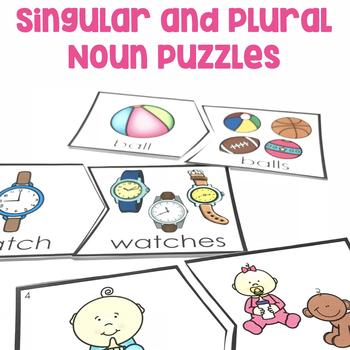 Singular and Plural Nouns Puzzles