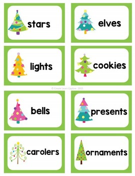 singular and plural noun sort christmas words - Plural Of Christmas