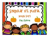 Singular and Plural Noun Sort {FALL EDITION}
