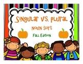 Singular and Plural Noun Sort {FALL EDITION}