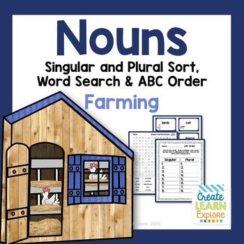 Singular and Plural Noun Sort: Farming Words