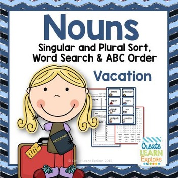 Singular and Plural Noun Sort  Vacation Words