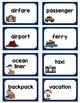 Singular and Plural Noun Sort  Vacation Words