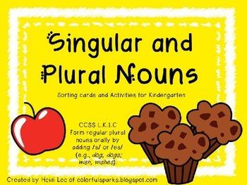 Singular and Plural Noun Sorting