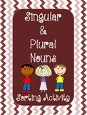 Singular and Plural Noun Sorting Activity