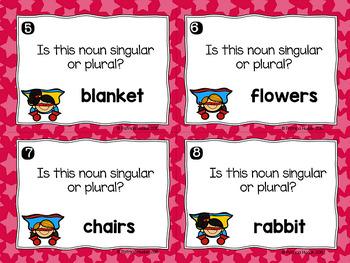 Singular and Plural Noun Task Cards