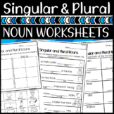 Singular and Plural Noun Worksheets! Two levels for Differentiation