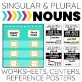 Singular and Plural Nouns: Reference Posters, A Center and