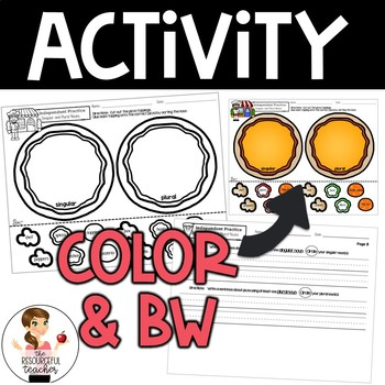 Singular and Plural Nouns Activity with Lesson Plans, Handout, Poster, Keys