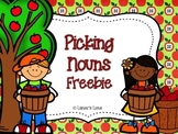 Singular and Plural Nouns Apple FREEBIE