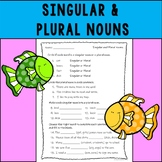 Singular and Plural Nouns Assessment or Practice