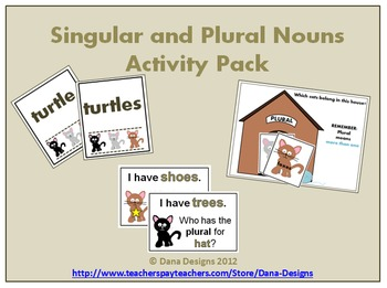 Singular and Plural Nouns Cat Activity Pack