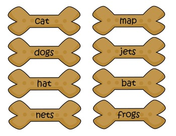 Singular and Plural Nouns (Dog House Puppy)
