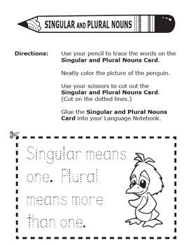 singular and plural nouns 1st grade grammar practice lesson ela poster. Black Bedroom Furniture Sets. Home Design Ideas