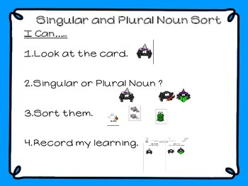 Singular and Plural Nouns (Halloween)