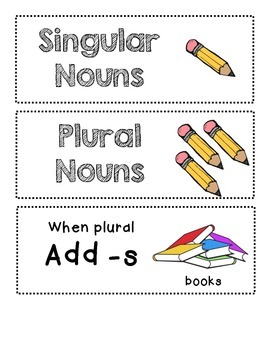 Singular and Plural Nouns - L.K.1c