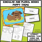 Singular and Plural Nouns Literacy Centers Task Cards and