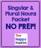 Singular and Plural Nouns NO PREP Packet