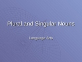 Singular and Plural Nouns PPT