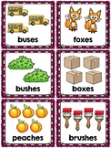 Singular and Plural Nouns Pocket Chart Sort Activities for s es and ies suffixes