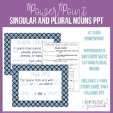 Singular and Plural Nouns PowerPoint and Study Guide