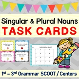 Singular and Plural Nouns Grammar SCOOT or Task Cards