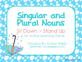 Singular and Plural Nouns Sit Down Stand Up Active Learning Game