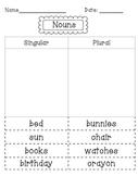 Singular and Plural Nouns Sort