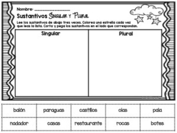 Singular and Plural Nouns {Spanish}