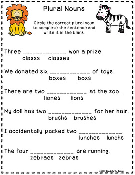 Singular and Plural Nouns - To add s or es