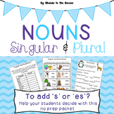 Singular and Plural Nouns -add s or es-TPT Digital Activity- Distance Learning