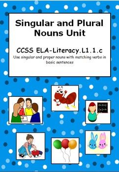 Singular and Plural Nouns CCSS ELA-Literacy.L1.1.c