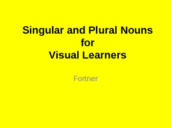Singular and Plural Nouns for Visual Learners