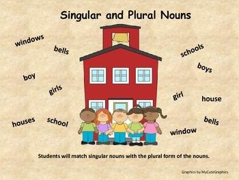 Singular and Plural Nouns (including irregular plural nouns)