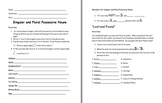 Singular and Plural Possessive Noun Activity and Note Sheet