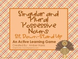 Possessive Noun Sit Down Stand Up Active Learning Game with Thanksgiving Theme