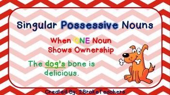 Singular and Plural Possessive Nouns Mini-Lesson Bundle