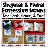 Singular and Plural Possessive Nouns Task Cards, Extra Pra