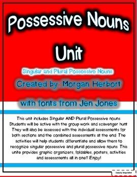 Singular and Plural Possessive Nouns Unit