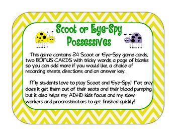 Singular and Plural Possessive Scoot or Eye-Spy