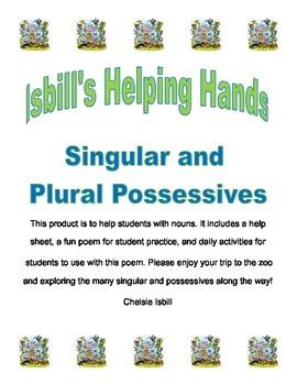 Singular and Plural Possessive Zoo Pack