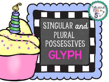 Singular and Plural Possessives Cupcake Glyph