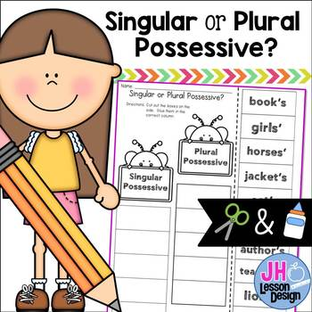 Singular and Plural Possessives - Cut and Paste