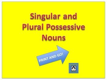 Singular and Plural Possessives - Print and go!