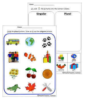 Singular and Plural (PowerPoint Presentation & Worksheets)