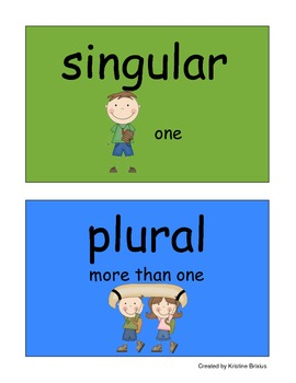 Singular and Plural  Noun Sort for Kindergarteners with -s and -es
