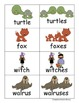 Singular and Plural  Noun Sort for Kindergarteners with -s