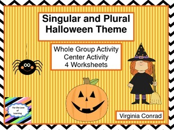 Singular and Plural Words---Halloween Theme
