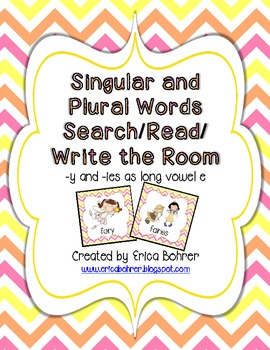 Singular and Plural Words Search/Read/Write the Room {-y & -ies}